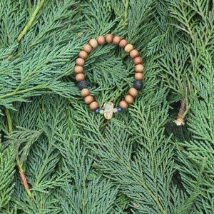 Gemstone Mala Hippie Chic Boho Crystal Bracelet